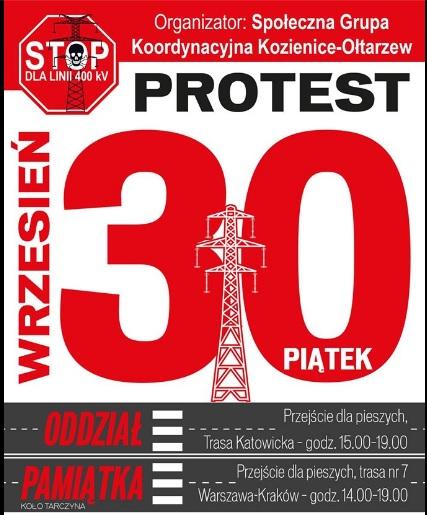 Protest. Blokada krajowej 7 i 8 pod Warszawą