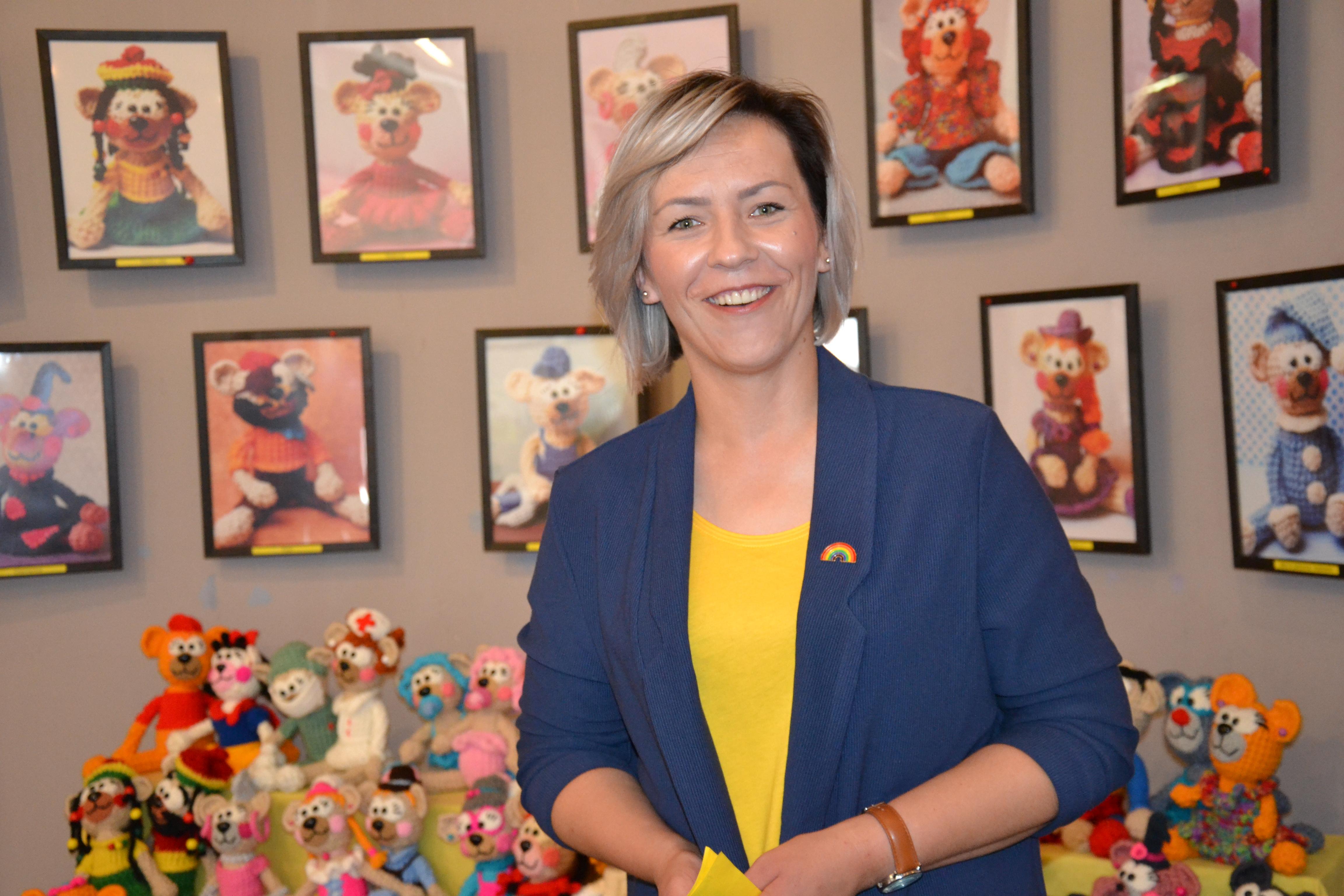 Ania Rieser w rodzinnym Mszczonowie pokazuje kolekcję misiów